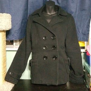 Jackets & Blazers - Black Pea Coat